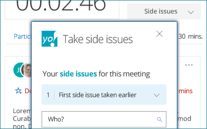 in-meeting-side-issues